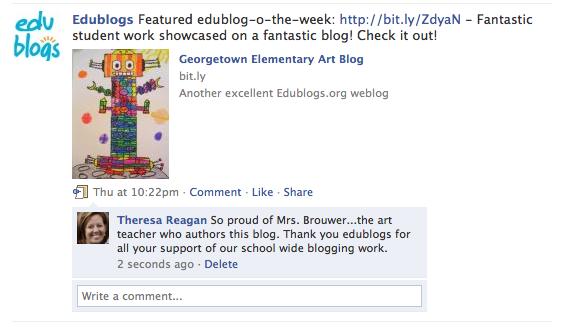 Facebook edublog