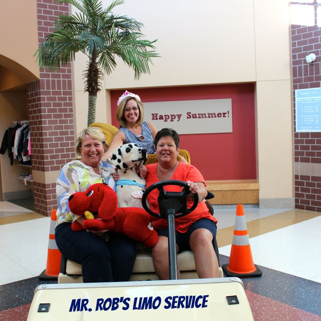 We're driving into summer in style!  Mrs. Reagan, Mrs. Ripley and Mrs. Nurenberg