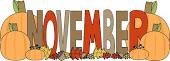 november clip art